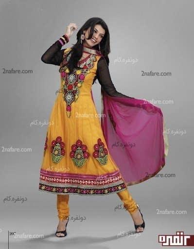 مدل لباس های سنتی رنگارنگ زیبا مجلسی پاکستان