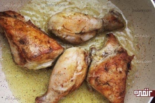 مرغ سرخ شده