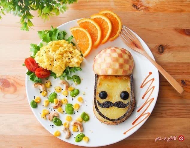 غذای کودک تزیین
