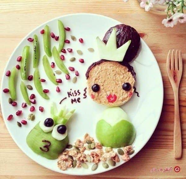 تزیین غذای کودک شاهزاده