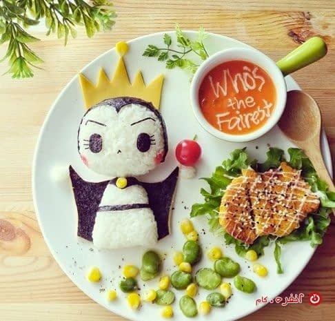 تزیین غذای کودک ملکه کوچولو