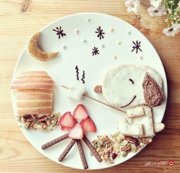 تزیین غذای کودک هاپو مهربون