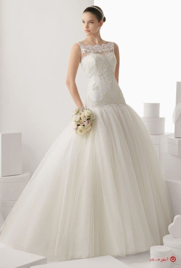 دامن خاص برای لباس عروس
