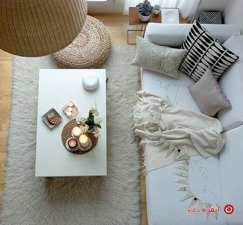 دکوراسیون داخلی با رنگ سفید