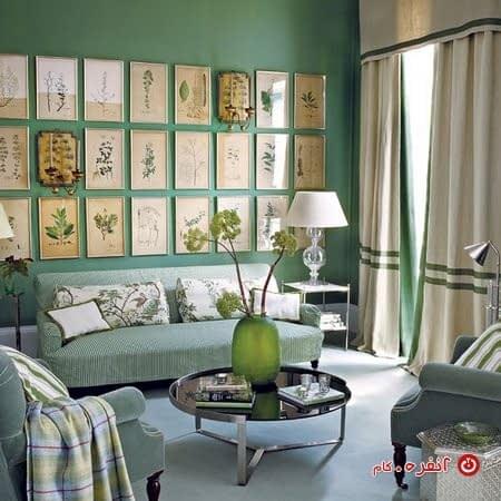 سبز زمردی در دکوراسیون داخلی