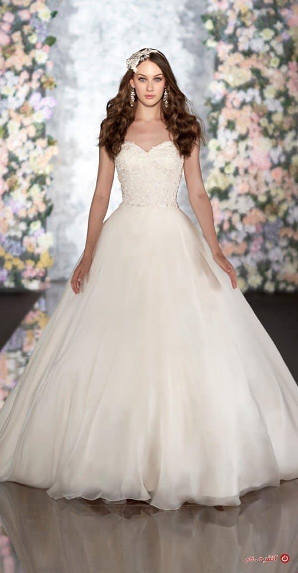 لباس عروس با دامن زیبا