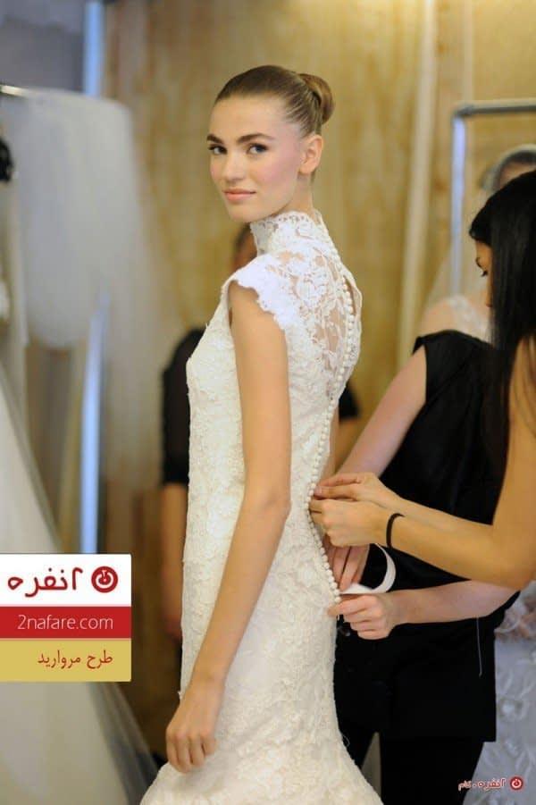 لباس عروس طرح مروارید