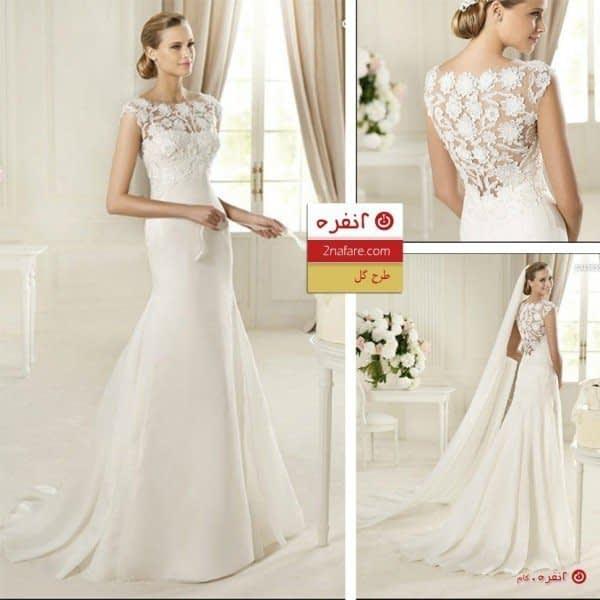لباس عروس طرح گل