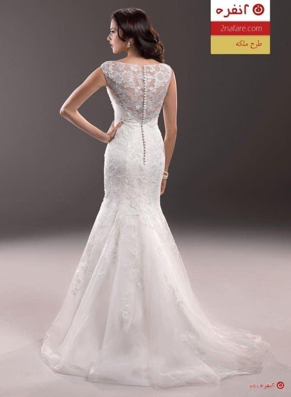 لباس عروس مدل ملکه نمای پشت