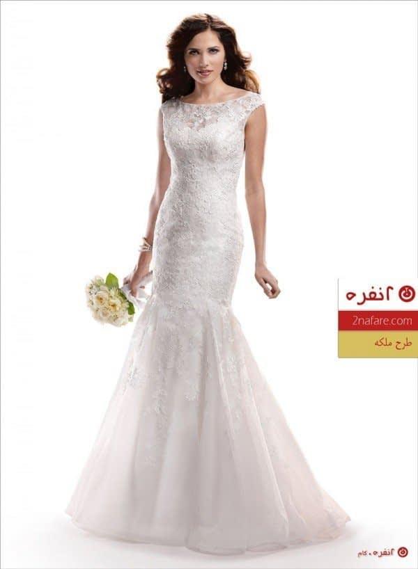 لباس عروس مدل ملکه