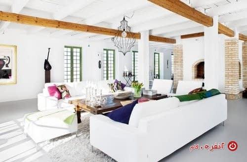 مبلمان و دکوراسیون داخلی با رنگ سفید