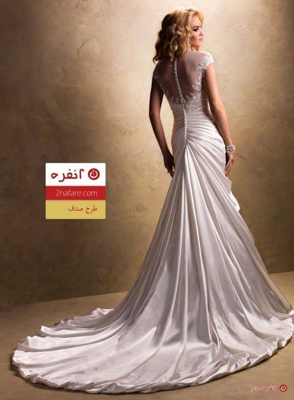 مدل لباس عروس طرح صدف