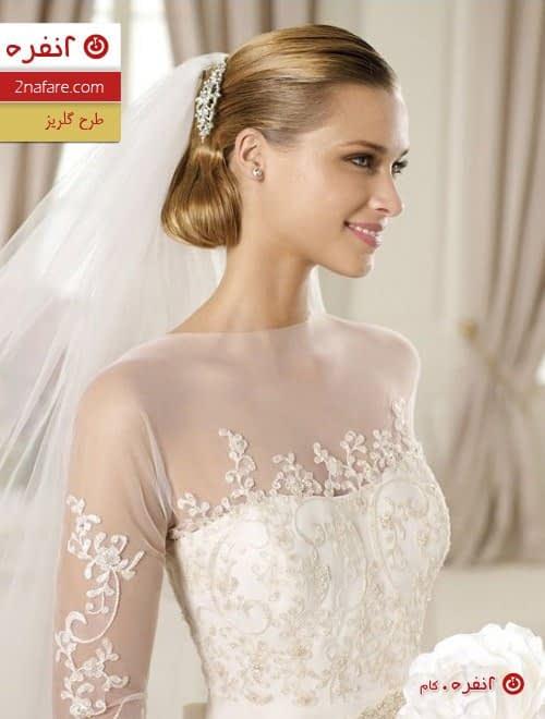 مدل لباس عروس طرح گلریز