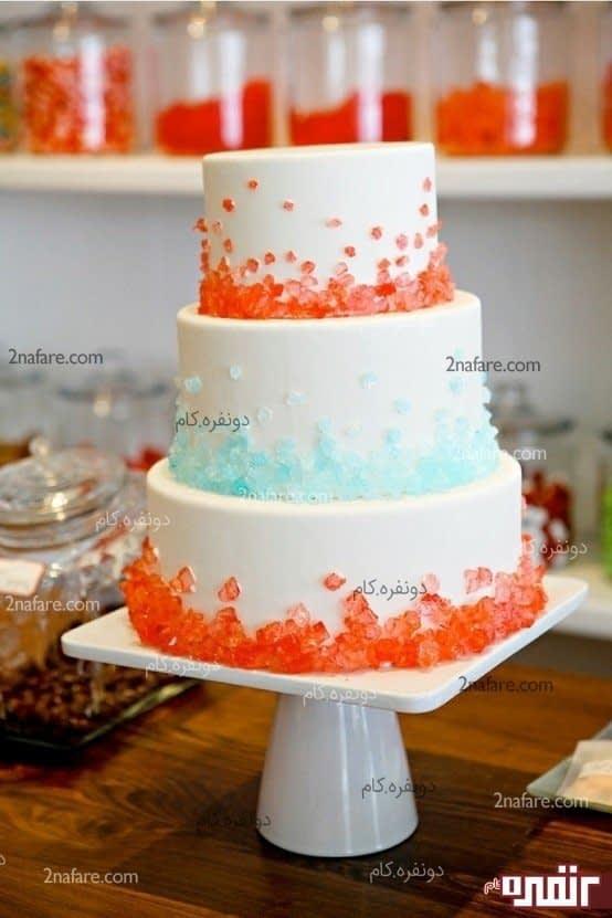 تزیین کیک با خرده ژله