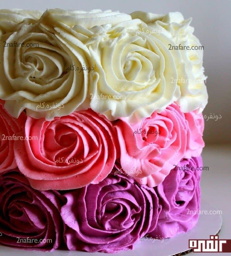 تزیین کیک زیبا و طرح های متنوع • دونفره