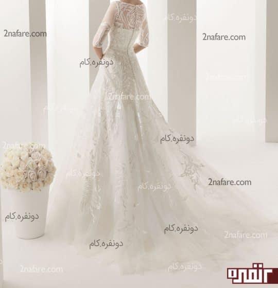 دامن زیبا با تور دانتل برای لباس عروس