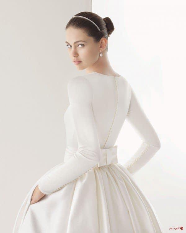 لباس عروس با پاپیون