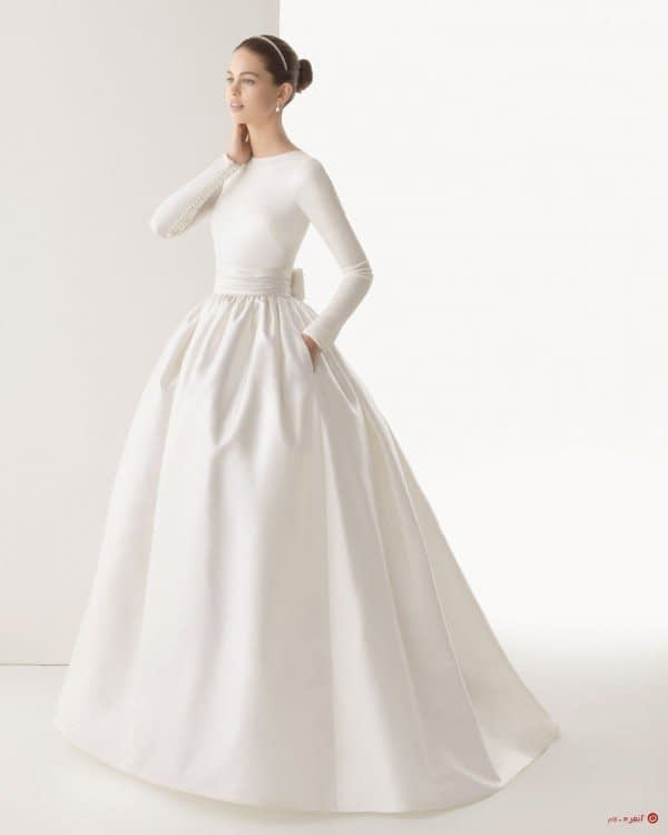 لباس عروس حجاب با پاپیون
