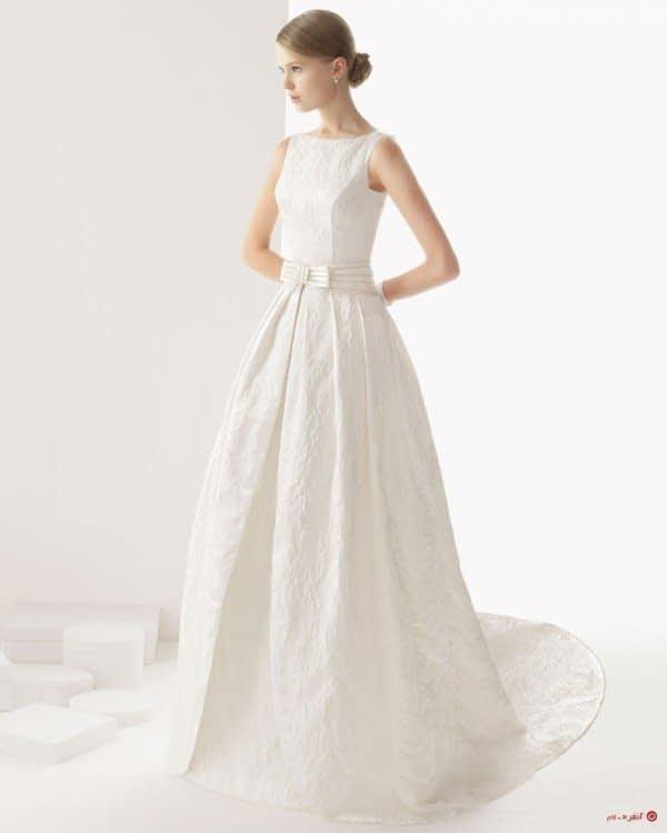 لباس عروس با کمربند پاپیون