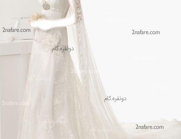 لباس عروس جدید با تور دانتل