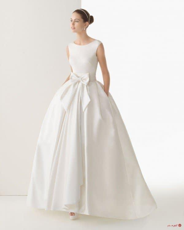 لباس عروس زیبا ی پاپیون دار
