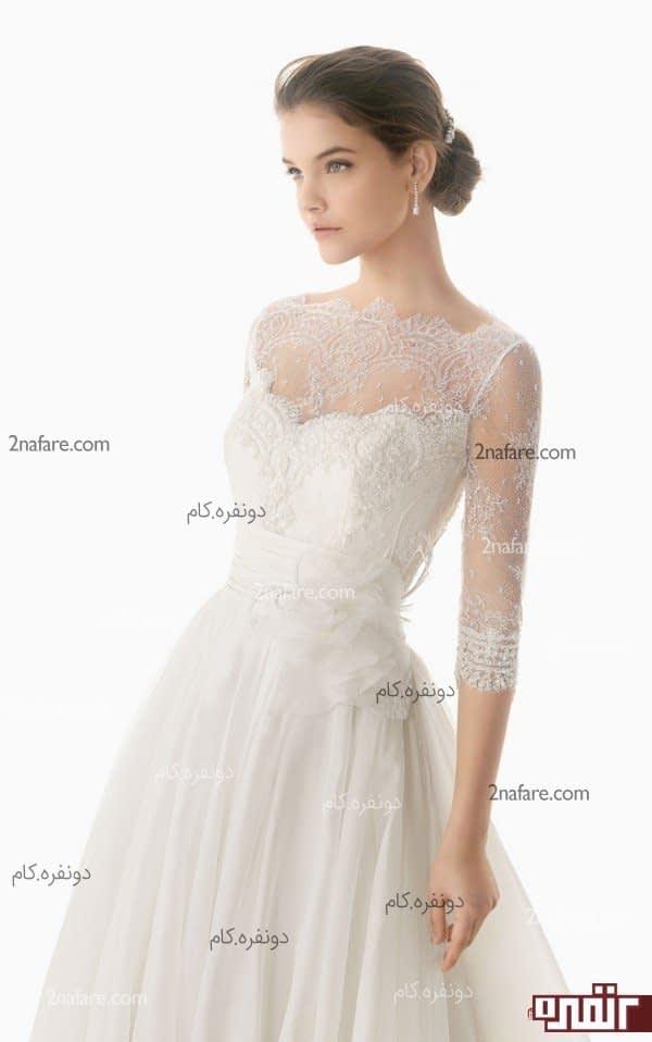 لباس عروس با آستین سه ربع