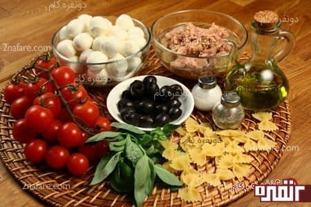 مواد لازم برای تهیه سالاد مدیترانه ای