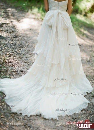 دامن دنباله دار برای لباس عروس