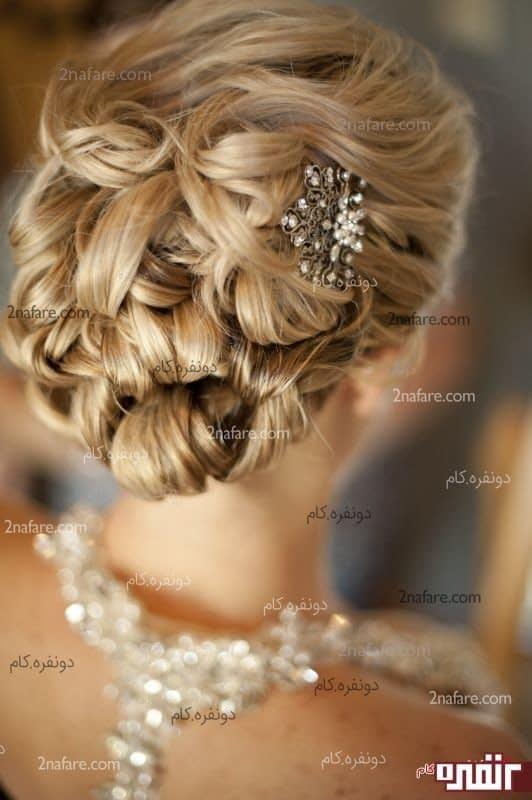 شنیون موی زیبا برای عروس