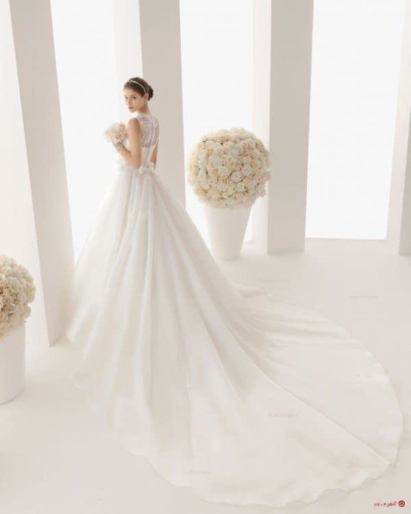 لباس عروس دنباله دار زیبا