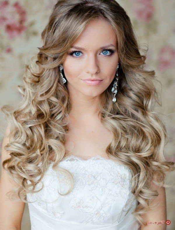 مدل مو ی باز برای عروس