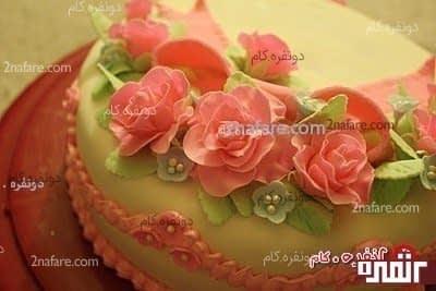آمورش گل رز با خمیر فوندانت