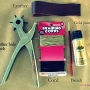 آموزش ساخت دستبند چرمی (2)