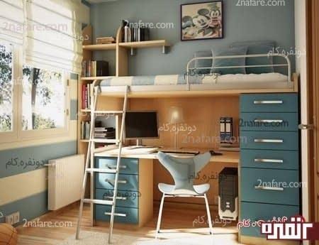 تخت و میز برای مبلمان اتاق خواب