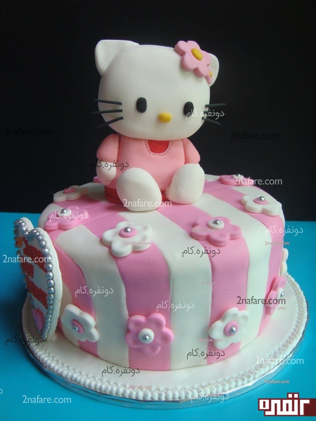 طرز درست ماکت کیک تولد طرز تهیه خمیر فوندانت آسان برای تزیین کیک زیبا • دونفره