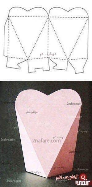 عبه کادو به شکل قلب