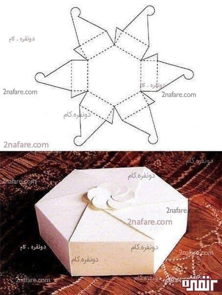 جعبه کادو شش ضلعی زیبا
