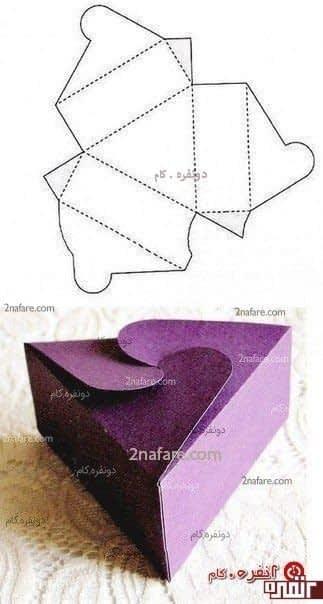 ساخت جعبه کادو سه وجهی