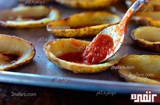 سس گوجه فرنگی برای پیتزا
