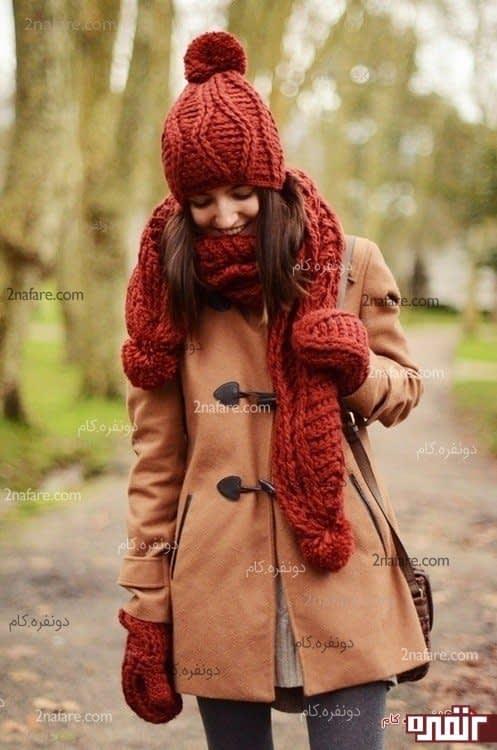 مدل شال و کلاه زیبا برای زمستان