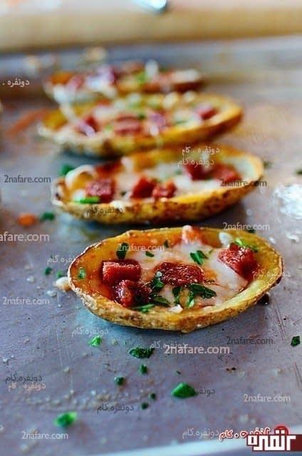 پیتزا ی سیب زمینی