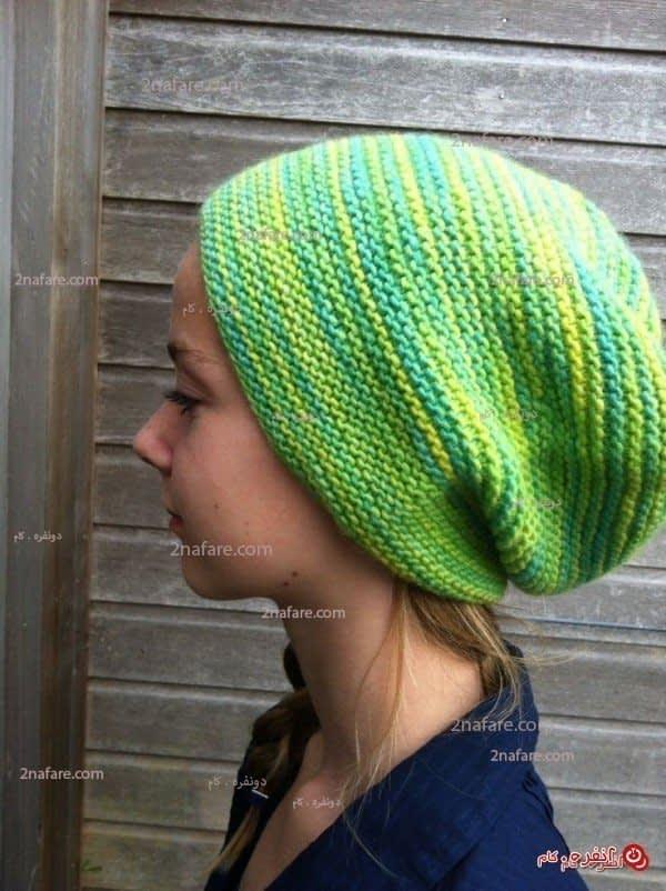کلاه بافتنی زیبا و ساده