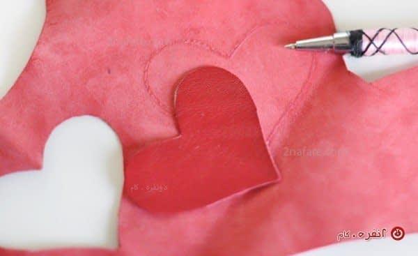 آموزش ساخت مرحله به مرحله جاسوئیچی زیبای قلبی با چرم
