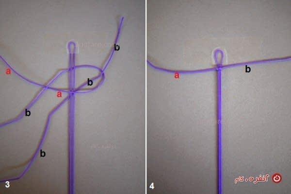 آموزش مرحله به مرحله ساخت دستبند نگین با نخ
