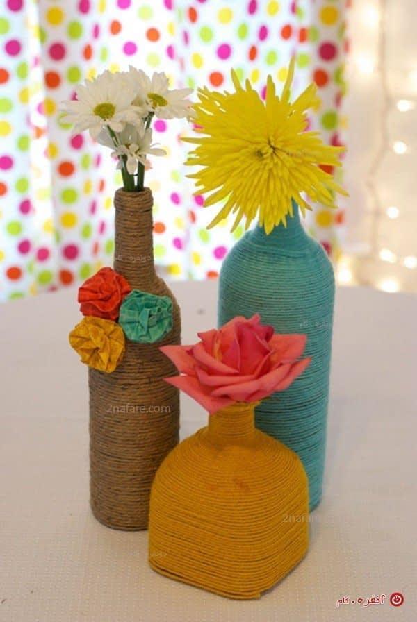 آموزش مرحله به مرحله ساخت گلدان با بطری