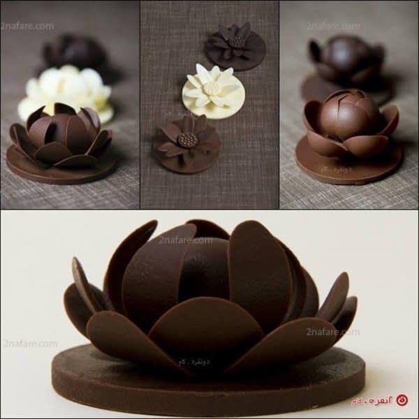 تزیین دسر با شکلات