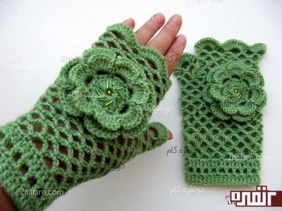 دستکش کاموایی زیبا