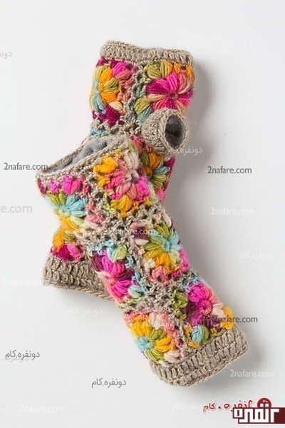 ساق دست کاموایی با گل