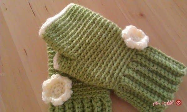 ساق دست کاموایی گل دار زیبا