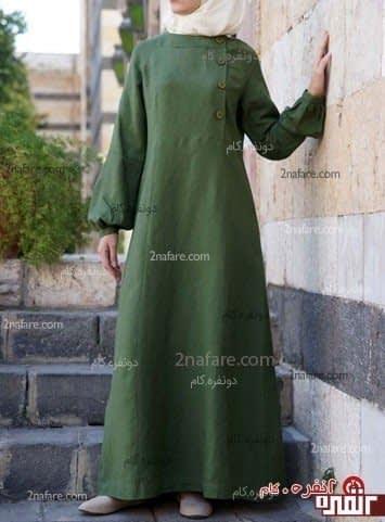 مدل جدید و زیبا ی مانتو  با حجاب